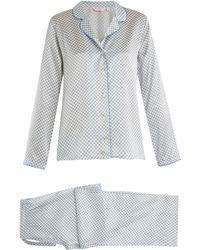 Derek Rose - Brindisi 14 Geometric-print Silk-satin Pyjama Set - Lyst