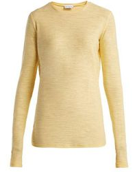 Raey - Long-sleeved Slubby Cotton-jersey T-shirt - Lyst