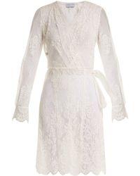 Carine Gilson - Floral Lace Wrap Dress - Lyst