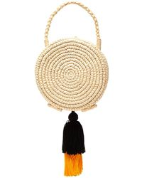 Sensi Studio - Woven Straw And Tiered Tassel Basket Bag - Lyst