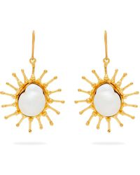 Sylvia Toledano - Sun Mother Of Pearl Baroque Drop Earrings - Lyst