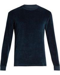Fanmail - Contrast-rib Velour Sweatshirt - Lyst