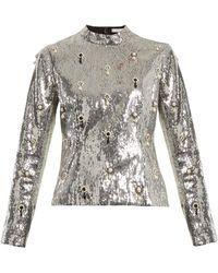 Erdem - Tonya Sequin-embellished Top - Lyst