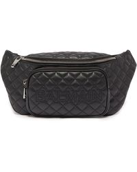 Balmain - Quilted Leather Belt Bag - Lyst