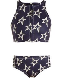 Perfect Moment - - Star Neo High Waisted Bikini - Womens - Navy - Lyst