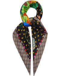 Gucci - Floral-print Silk Scarf - Lyst