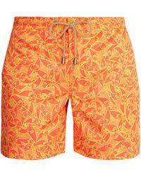 Thorsun - Titan-fit Pescado-print Swim Shorts - Lyst