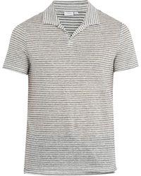 Onia - Shaun Linen And Cotton-blend Polo Shirt - Lyst