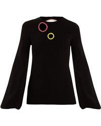 ROKSANDA - Saher Blouson-sleeve Cut-out Sweater - Lyst