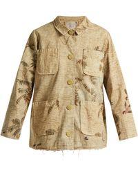 By Walid - Hazy-jungle Print Cotton-canvas Jacket - Lyst
