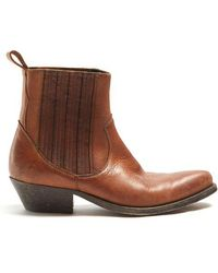Golden Goose Deluxe Brand - Santiago Leather Ankle Boots - Lyst
