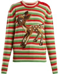 Gucci - Fawn Wool And Mohair Blend Jumper - Lyst