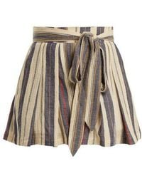Three Graces London - Kilman High-waisted Striped Shorts - Lyst