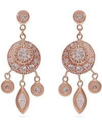 Jacquie Aiche - Dreamcatcher Diamond & Rose-gold Earrings - Lyst