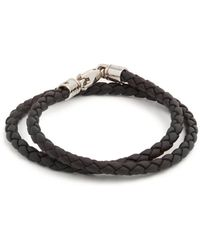 Tod's - Braided Leather Bracelet - Lyst