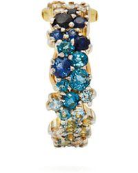 Ana Khouri - Mirian 18kt Gold, Diamond & Sapphire Ear Cuff - Lyst