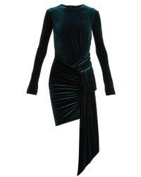 Alexandre Vauthier - Draped Velvet Dress - Lyst