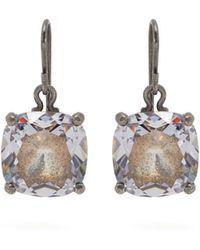 Bottega Veneta - Cubic Zirconia Drop Sterling Silver Earrings - Lyst