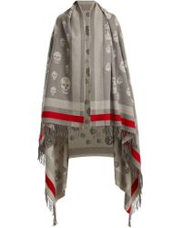 Alexander McQueen - Skull Wool And Cashmere-blend Wrap - Lyst