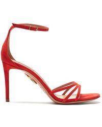 Aquazzura - Very Purist Ankle-tie High-heel Sandals - Lyst