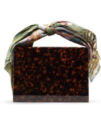 Montunas - Guaria Mini Orchid Print Silk Handle Box Bag - Lyst