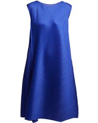 Pleats Please Issey Miyake - Pleated Sleeveless Midi Dress - Lyst