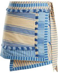 Dodo Bar Or - Jupe portefeuille en coton à rayures Hoza - Lyst
