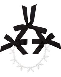Simone Rocha - Crystal Bow Necklace - Lyst