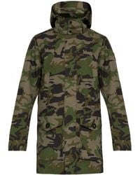 Canada Goose - Camouflage Print Hooded Coat - Lyst