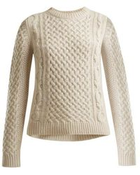 Nili Lotan - Cable-knit Cashmere Jumper - Lyst