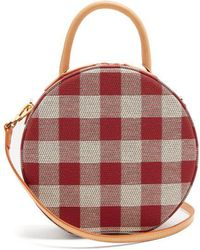 Mansur Gavriel - Circle Gingham Cotton-canvas Cross-body Bag - Lyst