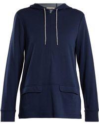 Falke - Half-zip Jersey Hooded Sweatshirt - Lyst