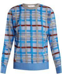 Toga - Checked Intarsia-knit Jumper - Lyst