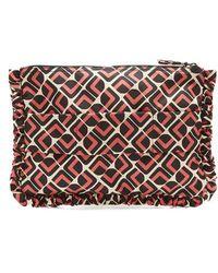 Footlocker Pictures Sale Online Sale Low Cost Floral-print ruffle-trimmed pouch La DoubleJ Sale Deals hInrm9Bnq