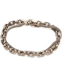 Title Of Work - Marco-mesh And Flat-cable Sterling-silver Bracelet - Lyst