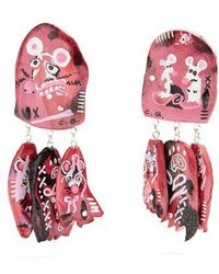 Claire Barrow - Mouse Face Triple-drop Clip-on Earrings - Lyst
