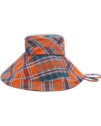 Lola Hats - Georges Checked Cotton Bucket Hat - Lyst