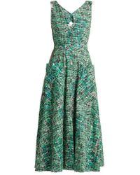 Saloni - Zoey Seaweed-printed Cotton Dress - Lyst