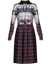Altuzarra - Robe-chemise à imprimé carreaux et tie-dye Maria - Lyst