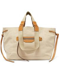Isabel Marant - Wardy Blended Canvas Tote Bag - Lyst