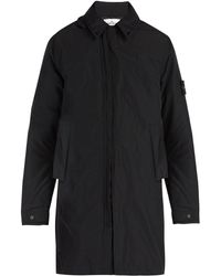 Stone Island - Zip-through Hooded Coat - Lyst