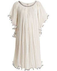 Talitha - Serena Ruffle-edged Cotton Dress - Lyst