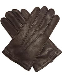 Prada - Topstitched Leather Gloves - Lyst