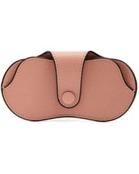 Valextra - Grained-leather Glasses Case - Lyst