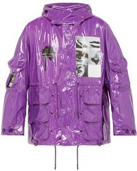 Undercover - Pixelated Graphic Vinyl Parka - Lyst