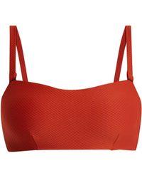 Asceno - Textured Bandeau Bikini Top - Lyst
