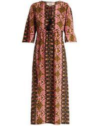 Figue - Maribella Star-print Silk Dress - Lyst