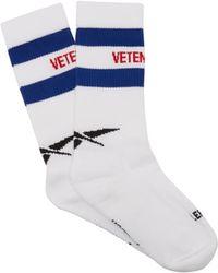 Vetements - X Reebok Logo Striped Cotton Blend Socks - Lyst