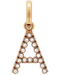 Burberry - Crystal 'a' Alphabet Charm - Lyst