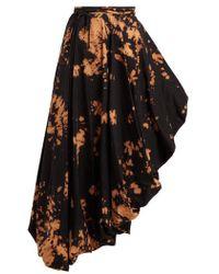 Marques'Almeida - Bleached Asymmetric Midi Skirt - Lyst